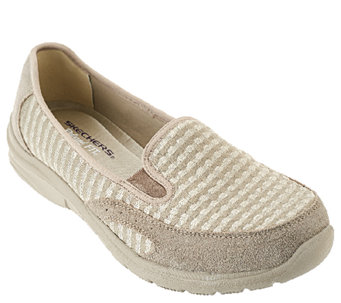 Skechers Jersey Mesh Relaxed Fit Slip-on Shoes - Comforter - A263396