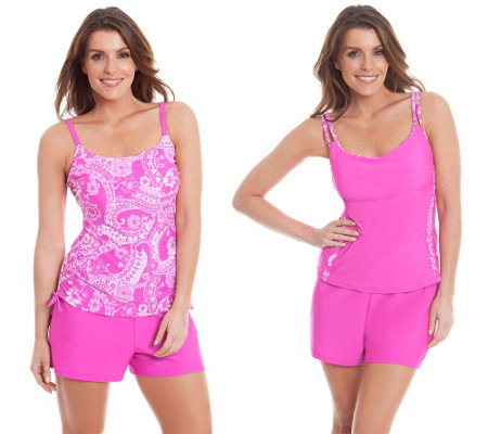Liz Claiborne New York 3-Pc Tankini and Shorts Swimsuit Set