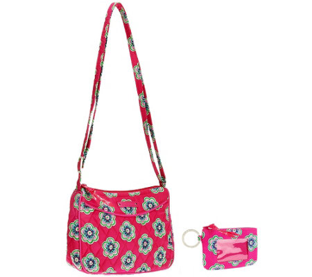 Vera Bradley Signature Print Little Crossbody and Zip ID Holder
