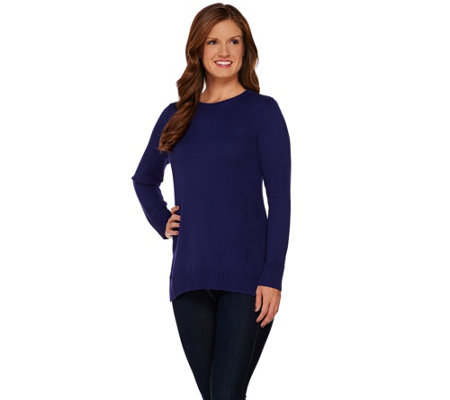 Isaac Mizrahi Live! Sweater w/ Forward Seam Detail
