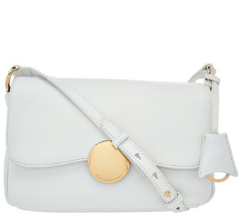 Isaac Mizrahi Live! Whitney Pebble Leather Crossbody w/ Circle Hardware - A273896