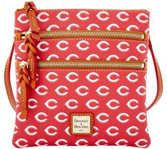 Dooney & Bourke MLB Reds Triple Zip Crossbody - A279996