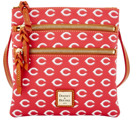 Dooney & Bourke MLB Reds Triple Zip Crossbody