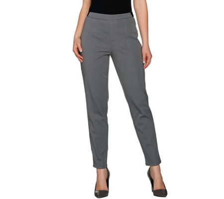 H by Halston Studio Stretch Tapered Leg Ankle Pants
