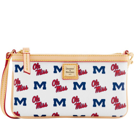Dooney & Bourke NCAA Ole Miss University Slim Wristlet