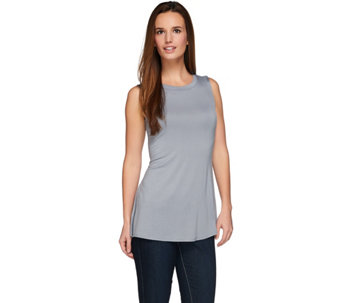 """As Is"" LOGO Layers by Lori Goldstein Tank with Hi-Low Shirttail - A284196"