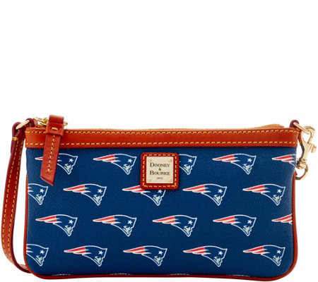 Dooney & Bourke NFL Patriots Large Slim Wristlet