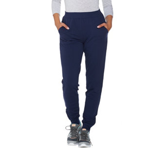 Denim & Co. Active Regular Jogger Pants with Zipper Detail - A286796