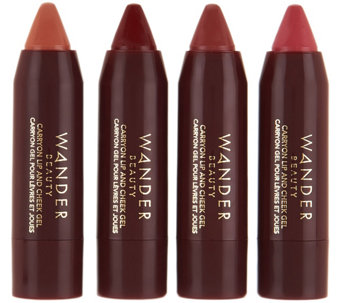 Wander Beauty 4-piece Lip & Cheek Crayons - A286896