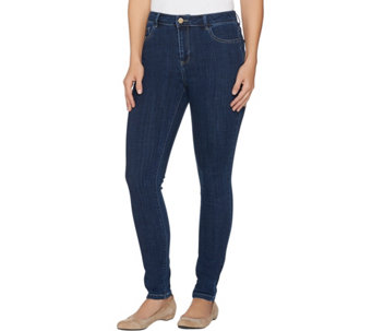 """As Is"" LOGO by Lori Goldstein Petite 5 Pocket Skinny Jeans - A289896"
