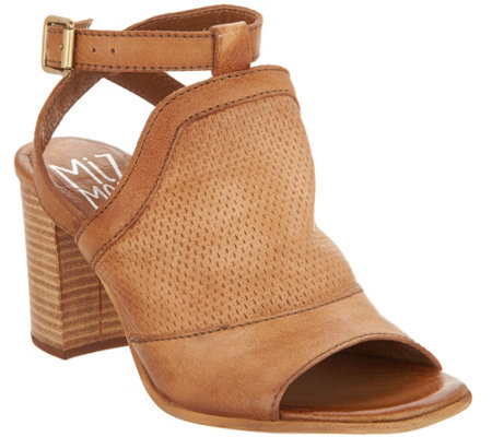 Miz Mooz Leather Block Heel Sandals - Shiloh