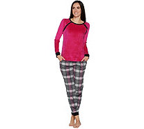Cuddl Duds Petite Ultra Plush Velvet Fleece Pajama Set - A294796