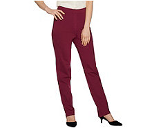 Joan Rivers Petite Joan's Signature Pull-On Full Length Pants - A297996