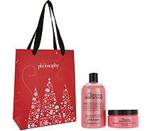 philosophy holiday shower gel & souffle duo with bag - A298296
