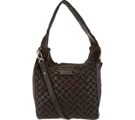 Liebeskind Leather & Suede Woven Hobo- Bedford
