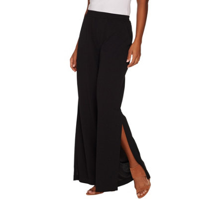 Du Jour Petite Pull-On Wide Leg Knit Pants