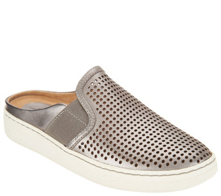 Earth Perforated Leather Slip-on Shoes - Zest