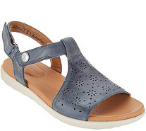 Clarks UnStructured Leather T-Strap Sandals - Un Reisal Mae - A304296