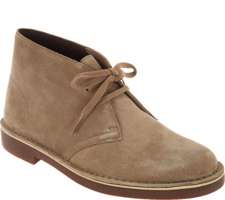 """As Is"" Clarks Leather or Suede Lace up Boots - Acre Bridge"