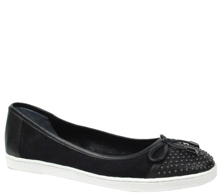 J. Renee Leather Studded Flats - Marenda