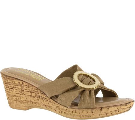 Tuscany by Easy Street Stretch Wedge Sandals -Conca