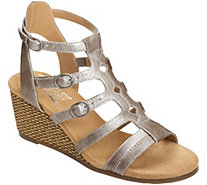 Aerosoles Heel Rest Wedge Sandals - Sparkle - A359296