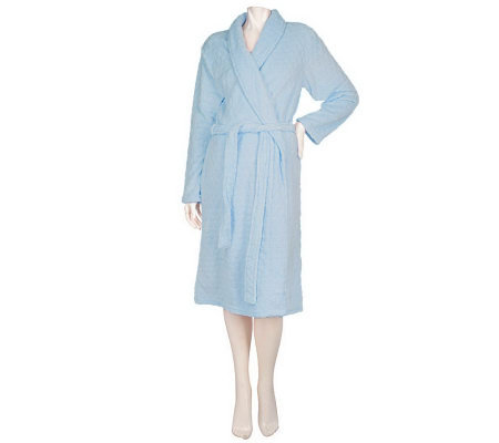 Dot Textured Angel Fleece Wrap Robe