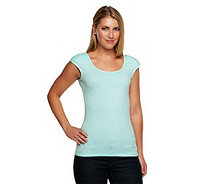 Kathleen Kirkwood Cap Sleeve Top with Shoulder Pads - A223797