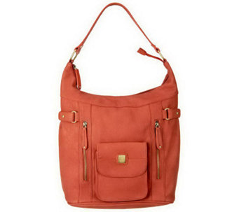 """As Is"" V Couture Tyler Hobo w/Front Snap Pocket - A229697"