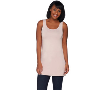 LOGO Layers by Lori Goldstein Regular Straight Hem Knit Tank - A235497