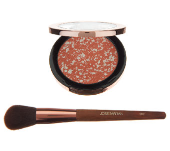 Josie Maran Argan Matchmaker Blush with Brush - A240197