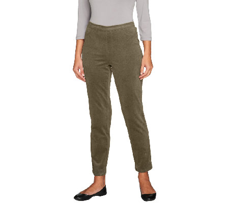 Isaac Mizrahi Live! Petite Stretch Corduroy Pull-On Pants