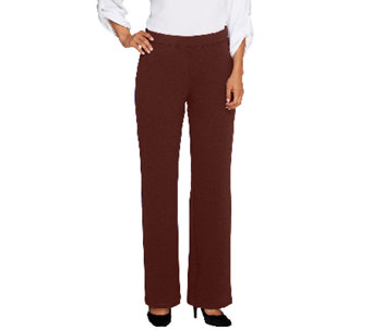 Bob Mackie's Textured Wide Leg Pull-On Knit Pants - A258897