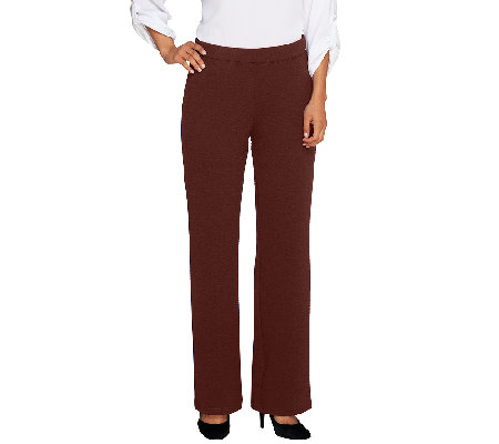 Bob Mackie's Textured Wide Leg Pull-On Knit Pants