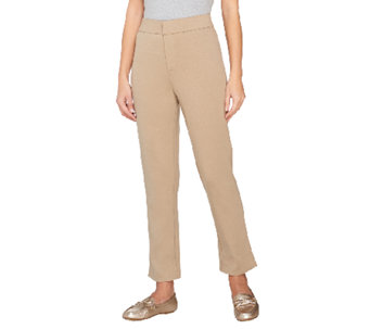 Liz Claiborne New York Hepburn Ponte Knit Slim Leg Ankle Pants - A261297