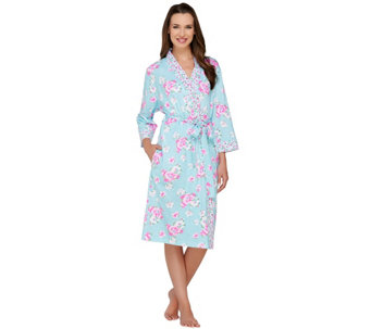 Carole Hochman Lakeside Bloom Cotton Jersey Robe - A262197
