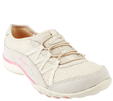 Skechers Mesh Bungee Slip-on Shoes - Relaxation