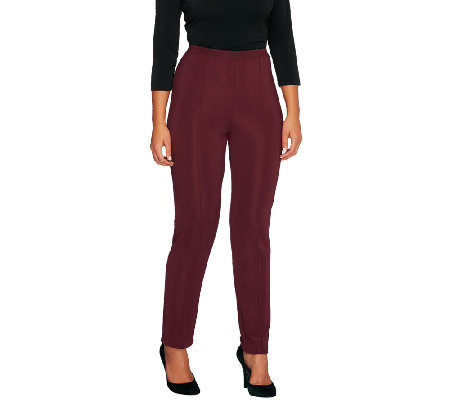 """As Is"" Susan Graver Regular Lustra Knit Pull-On Pants"