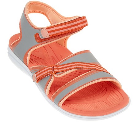 """As Is"" Ryka Adjustable Sandals w/ CSS Technology - Breeze"