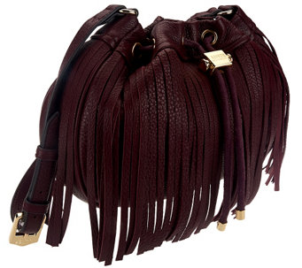 """As Is"" Aimee Kestenberg Pebble Leather Fringe Crossbody - A275997"