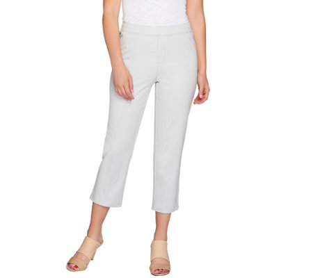 H by Halston Studio Stretch Pull-On Crop Pants