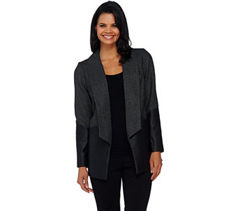 """As Is"" GK George Kotsiopoulos Herringbone BoyfriendBlazer - A277497"