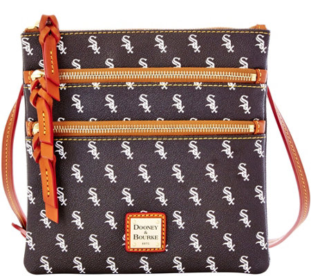 Dooney & Bourke MLB White Sox Triple Zip Crossbody