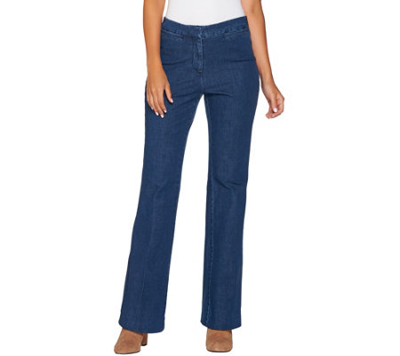 Isaac Mizrahi Live! Regular 24/7 Denim Boot Cut Flyfront Jeans