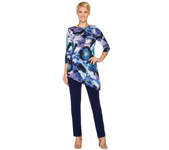 Attitudes by Renee Regular Radiant Knit Printed Tunic and Pants Set - A281097