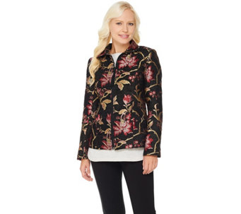 Susan Graver Tapestry Zip Front Jacket - A282097