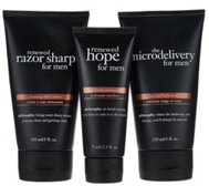 philosophy prep, shave, & hydrate trio for men
