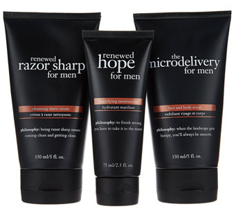 philosophy prep, shave & hydrate trio for men - A282197