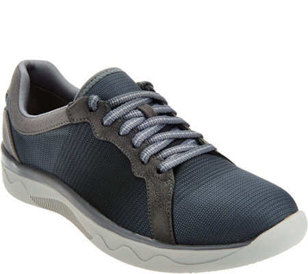 Clarks Cloud Steppers Lace-up Mesh Sneakers - McKella Simone
