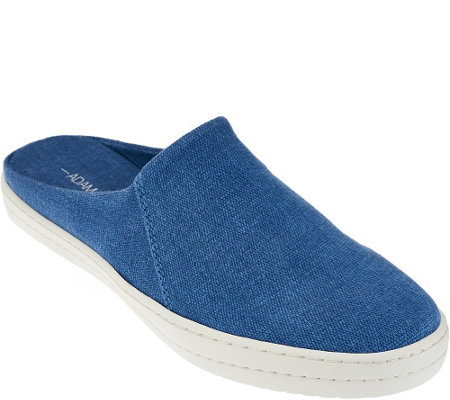 """As Is"" Adam Tucker Canvas Sneaker Mules - Jive"